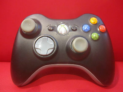 OFFICIAL Black Microsoft Xbox 360 Wireless Controller Genuine OEM Original