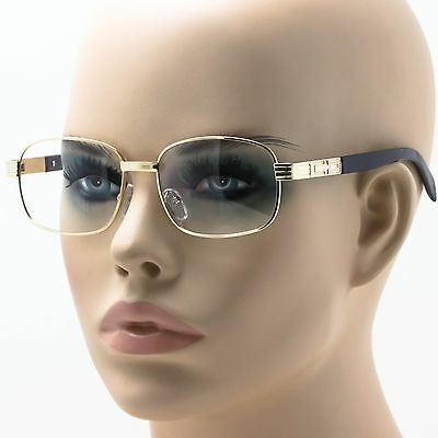Classic Retro Vintage Style Clear Lens Square EYE GLASSES Gold Fashion Frame NEW