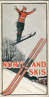 Northland Skis Vintage 1920's Flyer / Catalog * Skis Toboggans Advertising Rare