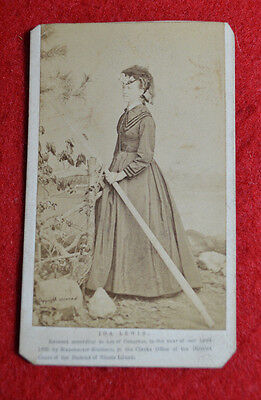 CDV Photo of Ida Lewis Lighthouse Keeper dated 1869 Rhode Island! Look!