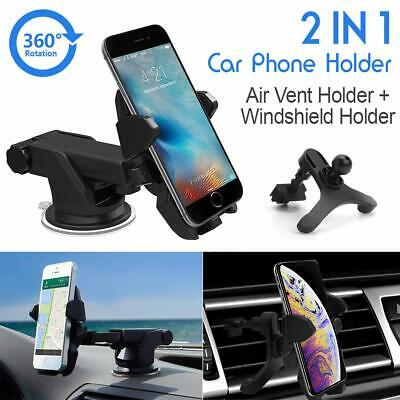 Cell Phone Windshield Dashboard Clamp Car Mount Holder for Apple iPhone 7 8 Plus