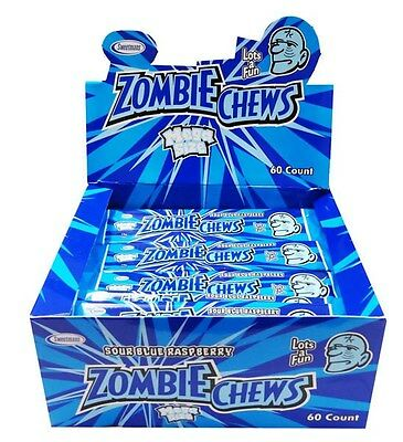 Zombie Chews Sour Blue Raspberry