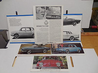 Renault Vintage 1964 Advertising Booklet And Flyers Caravelle R-8 1100 Dauphine