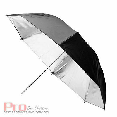 Big SALE! 84CM Reflective Black Sliver Umbrella for Photo Studio Lighting 33''