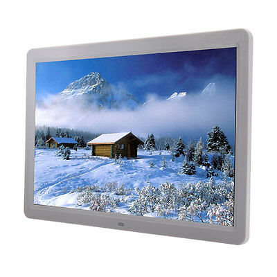 15 inch LED HD High Resolution Digital Picture Photo Frame White + 2GB Card Gift