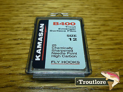 25 x KAMASAN B400 #12 DRY FLY / EMERGER HOOKS - NEW FLY TYING MATERIALS