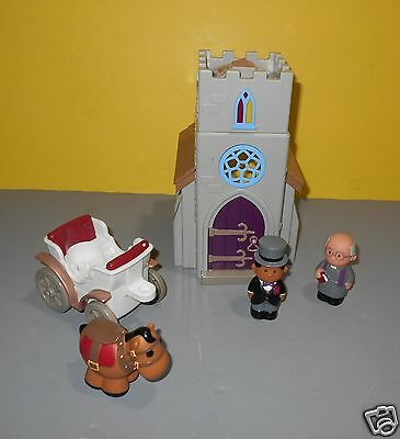 Step2 Mainstreet Village Wedding Playset Church Building Preacher Figure
