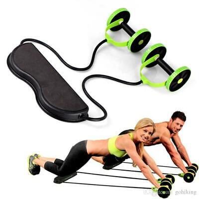 Gym AB Roller Abdominal Crunch Fitness Crunch Exercise Workout Trainer Machine