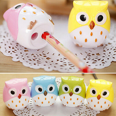 Pencil Sharpener For School Student Kids Gift Hand Machine Office Stationery Owl