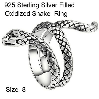 7Sr Genuine Real 925 Sterling Silver Sapphire Anitque Style Signet Ring Kids J