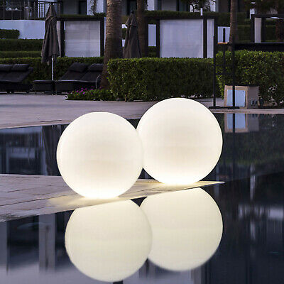 2X LED Solar/Charger Adaptor Outdoor Garden Light Ball RGB Remote Weatherproof