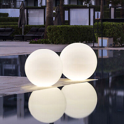 LED Solar and Charger Power Adaptor Outdoor Light Garden Ball Color PACK2