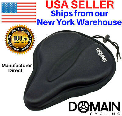 Large Bicycle Gel Seat Cover, Wide Thick Cushion Exercise Bikes - Domain Cycling