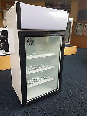 Counter Top Display Bottle Cooler with Flourescent Canopy