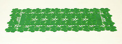 """St. Patrick's Day ~ All Over Irish Clovers 36"""" Table Runner"""