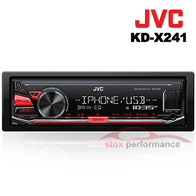 JVC KD-X241 1-Din Digital Media Receiver with Front USB/AUX Input Car Stereo-New