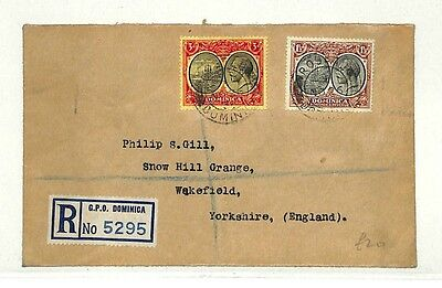 AB171 1936 Dominica Yorks GB Cover {samwells-covers}PTS
