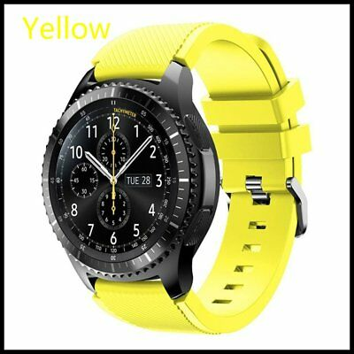 Yellow Silicone Strap Wrist Band For Samsung Gear S3 Frontier Classic Watch