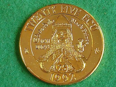1992 wales 25 ecu trial pattern edward the black prince goldine KM X#4c FREEPOST