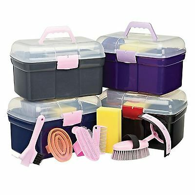 Cottage Craft Equine Grooming Box PPLI sweat scraper plastic curry & mane comb