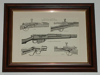 Print over 125 yrs old Small Arms Martini-Henry Gras (also available unframed)