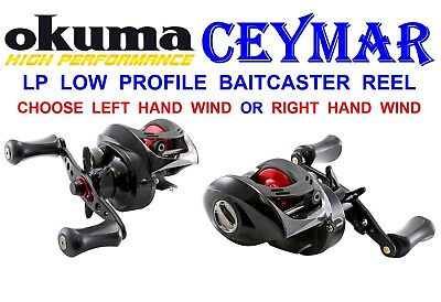 Okuma Ceymar Baitcaster Reel Sea Coarse Fishing Plugging Low Profile Multiplier