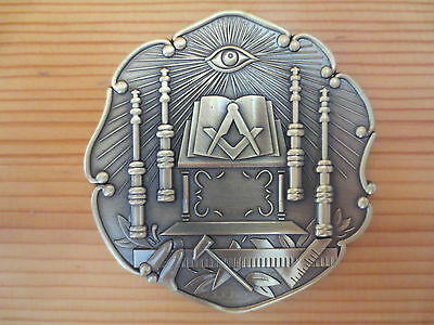 Masonic Auto Car Badge Emblems mason E32 Ancient Temple 3D 3'' antique