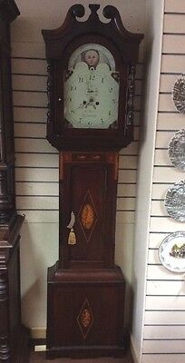 Newcastle Inlaid Mahogany Grandfather / Longcase Clock 8 Day