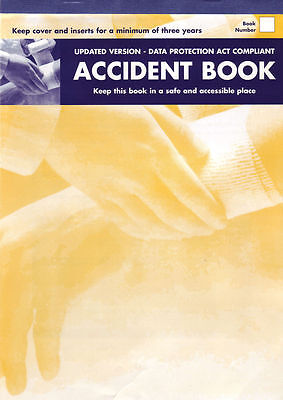 Hse A4 Approved Accident Report Book, School, Office, Factory, Nursery, Garage,
