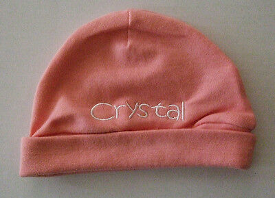 Personalised Custom Embroidered Newborn Hat Baby Beanie Hat Free Name Embroidery