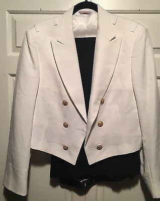 Us Navy Officers Formal White Mess Dress Uniform Jacket 44 46r