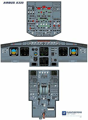 Cockpit - Flight Deck Training Poster - Airbus A320 EIS2/LCD - from £29.95