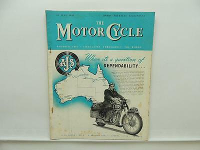July 1953 THE MOTORCYCLE Magazine AJS Ariel Royal Enfield Bullet L8095