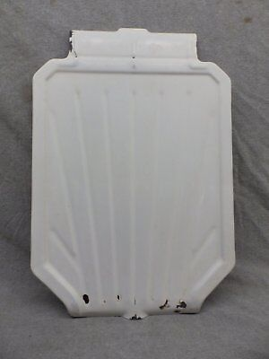 Antique Steel White Porcelain Sink Basin Cover Drainboard Vtg Kitchen 296-17R