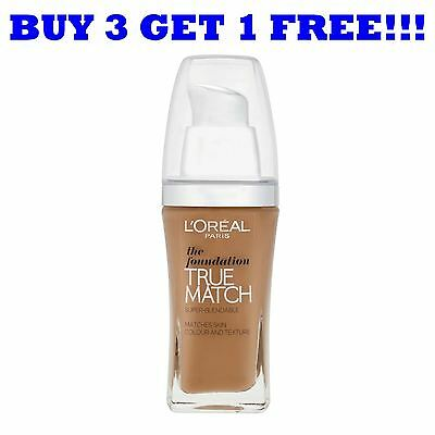 L'Oreal True Match Liquid Foundation 30ml D7/W7 Golden Amber