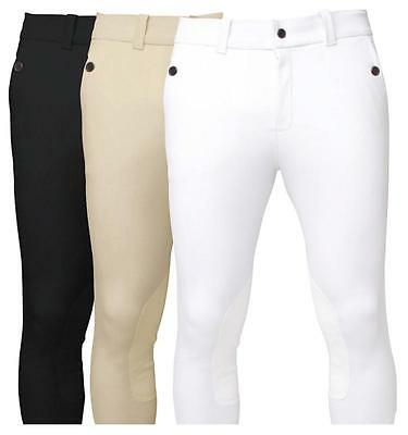 Horseware Mens Self Seat Woven Show COMPETITION BREECHES Beige/White/Black 28-40