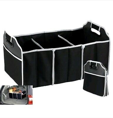 3-in-1 Heavy Duty Collapsible Car Boot Organiser Foldable Shopping Tidy Storage