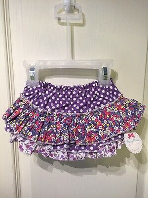 Fancy Pants Girl's Purple Ruffled Diaper Cover Bloomers 18-24 Mos NWT