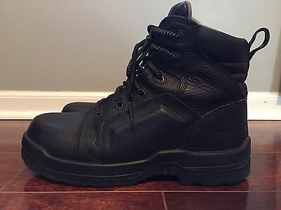 Rockport RK6635 Black Leather Composite Toe Work Boots Shoes 8.5 M 10.5 W