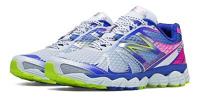 New Balance Womens Running 880v4 Shoes White with Blue & Pink