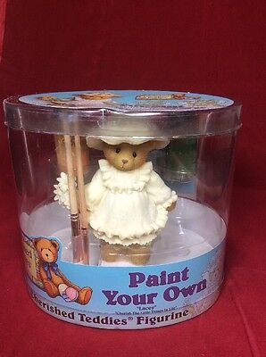 ENESCO Cherished Teddies Paint Your Own Lacey Figurine Kit with Brushes 662453A