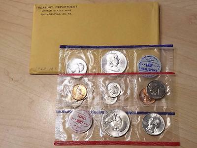 1959 P & D US Mint Uncirculated Silver Coin Set Writing on envelope #1