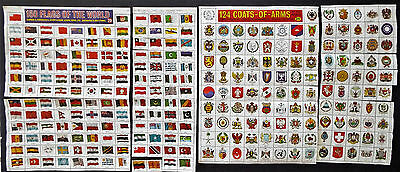 For The Old Stamp Album Worlwide Flags And Coat Of Arms Stamps