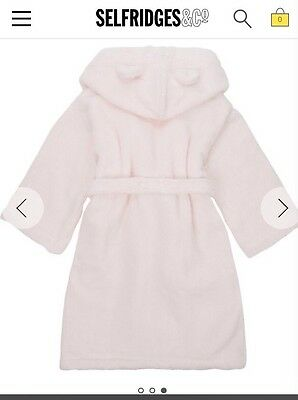 The White Company Baby Girl Bear Ears Dressing Gown