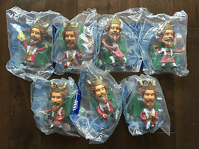 2006 Burger King Super Bowl The King Bobbleheads NFL New Sealed Lot of 7