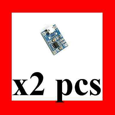 2 PCS Lot 5V Micro USB 1A 18650 Lithium Battery Charging Board Charger Module