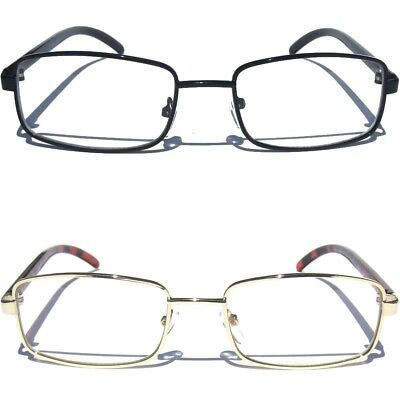 Small Frame Metal Front Clear Lens Eye Glasses Designer Style Fashion Eyewear