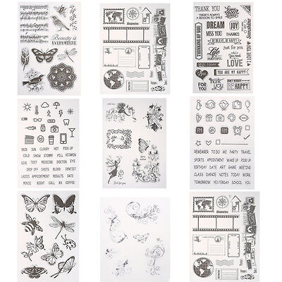 Transparent Silicone Clear Rubber Stamp Sheet Cling Scrapbooking Card DIY Crafts