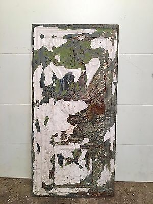 "1 - 23"" x 11"" Antique Ceiling Tin Tile Vintage Reclaimed Salvage Re Purpose Art"