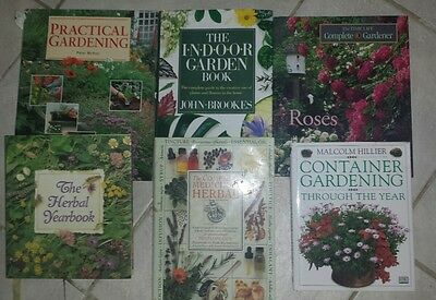 Lot of 6 Gardening and Herbal Books Free Shipping